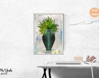 Potted Botanical Plant Art Print