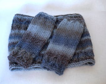 Snood and mittens set