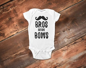 Funny Baby Onesies® Bodysuit, Funny Onesies® Baby Boy Clothes, Funny Baby Gift, Baby Boy Clothes, Funny Baby Clothes, Bros before bows