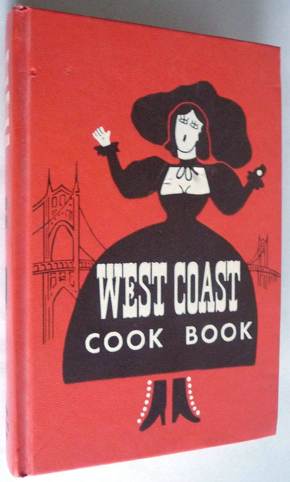 West Coast Cook Book 1952 Cookbook Collectors Library Hardcover HC Recipes