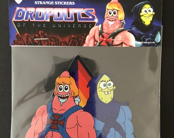 "Dropouts of the Universe ""Spong-O-Tor and Pat-Man"" Holographic Sicker by Alexander Fechner"