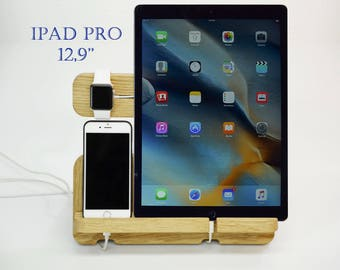 The new 12.9-inch iPad Pro Charging Station. Apple Watch Docking Station, Apple Watch Dock, Apple Watch Charger, iPhone 6,7 Docking Station