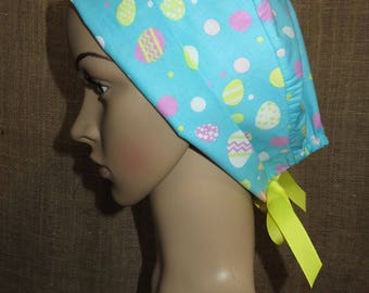 Easter Eggs  Pixie Style  Surgical OR Scrub Hat