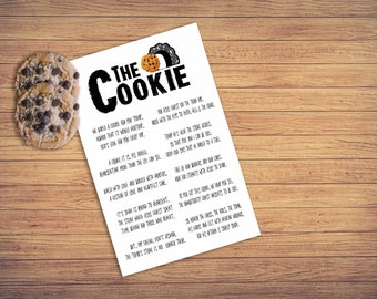 Printable, Cookie, Poem, Gift, Outreach, Easter, Encouragement, Youth, Church, Food, Project, Community, pdf, psd, jpg, png, ai