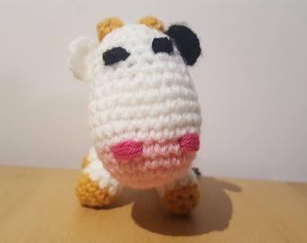 Little cow hand crocheted wool blanket