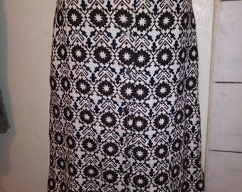 Vtg High Waist Pencil Skirt with belt