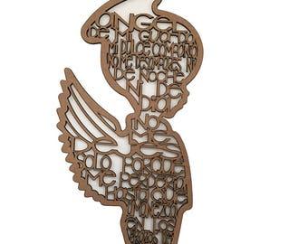 Guardian Angel Unpainted Wood Craft - Ángel de la Guarda