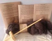 Viking craft kit, knot binding kit, hand spinning and Naelbinding kit, natural wool kit, viking hat kit, Christmas gift craft kit