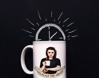 "Central 23 Game Of Thrones Mug ""Arya Ready For Monday"""