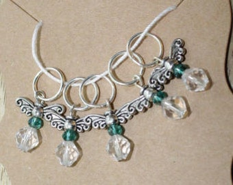 Emerald Wings Stitch Markers