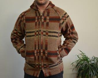 Vintage Men's Wool Zip Up