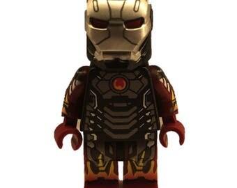 LEGO minifigures Custom Ironman HotRod Made with Original LEGO Parts