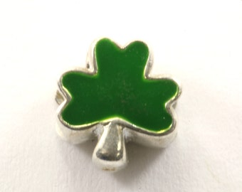Vintage Green Clover Charm Sterling 925 CH 495