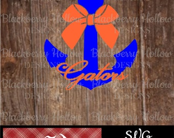 Florida Gators Anchor, Cut Files, SVG, Silhouette, DXF, Heat Transfer Projects