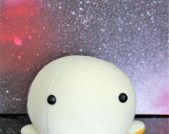 White with Rainbow Legs Kawaii Octopus Plushie - Stuffed