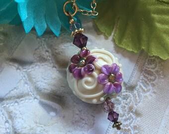 SALE - Lampwork Pendant, Lampwork Pendant/Necklace, Lampwork Jewelry, Lampwork Pendant, SRA Lampwork Jewelry