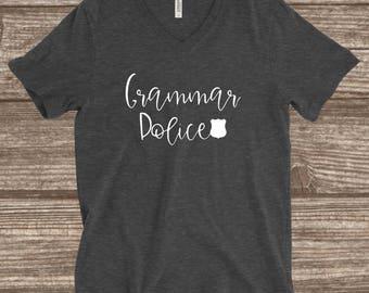 Grammar Police T-shirt - English Teacher T-shirt - English Professor T-shirt - Grammar Police - Funny Grammar Shirt - English Major Shirt