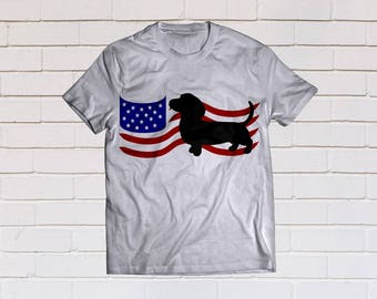 American flag svg, Distressed american flag svg, Dachshund svg, Usa flag svg, SVG Files, Cricut, Cameo, Cut file, Clipart, Svg, DXF, Png Eps