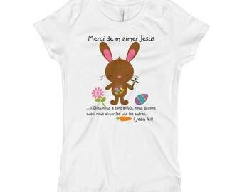 Merci de m'aimer Jésus Girl's short sleeve T-Shirt