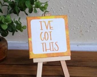 Desk Art - Dorm Decor - Cubicle Decor - Positive Life - Inspirational Sign - Affirmation -  Law of Attraction Sign