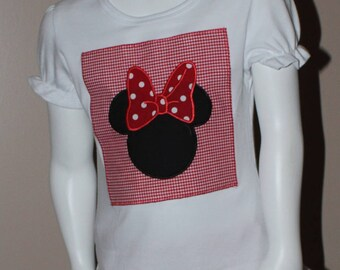 Minnie Mouse Appliqued shirt