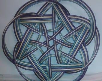 Purple and blue Celtic Knot basket