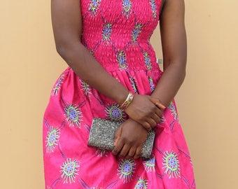 Women African Print Maxi Dress