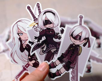 NieR:Automata A2, 2B and 9S Stickers