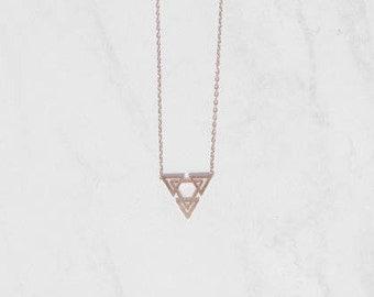 Skylar Necklace Rose Gold