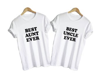 Best Aunt Best Uncle - shirts v-necks unisex womens family sister brother mom dad family gift present auntie tia tio shirt tee in law