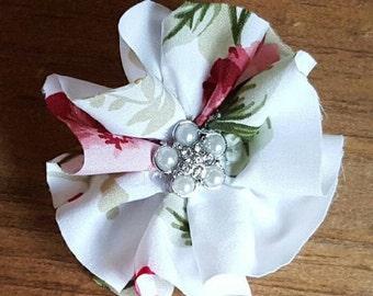 Flower Pin, Fabric Flower Brooch, Brooch Pin, Flower Brooch, Ruffled Flower Brooch, Textile Jewelry, Fabric Jewelry,Fabric Brooch