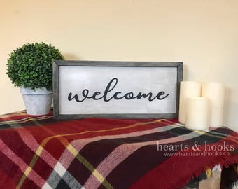 Welcome Sign - Welcome Sign for Front Door - Welcome Home Sign - Entryway Decor - Entryway Sign - Rustic Welcome Sign - Housewarming Gift