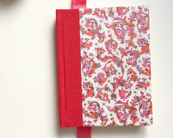 Florentine Linen Bound Journal in Poppy, Orchid and Gold