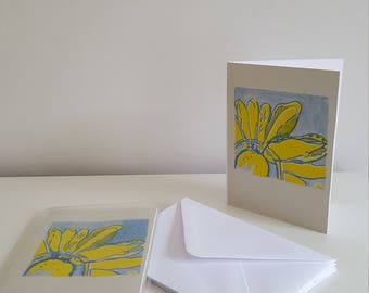 Flower risoprint card pack