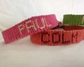 BULK - Custom Made Name Friendship Bracelets