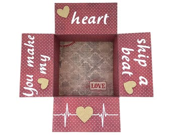 Care Package Flaps, Valentine's Day Kit, Military Care Package Kit, You Make My Heart Skip a Beat Kit, Care Package, 9 pc Set, Deluxe Kit