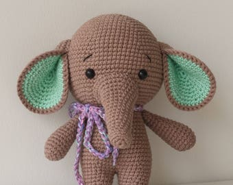 ALONSO the Elephant Toy - Crochet Elephant - Stuffed Elephant - Soft Elephant Toy - Plush Elephant,Baby Toy - Baby Soft Toys