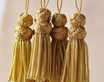 French Gold Bullion Tassel / Pendant Antique Style Metallic Threads 1 Piece