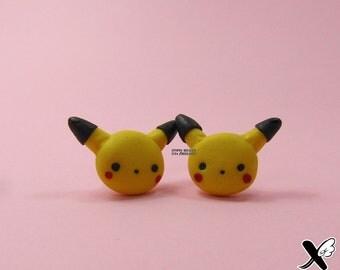 Pikachu Earrings  Pokemon  Pokemón  Earrings  Pendants  Polymer Earrings  Polymer Jewelry  Nintendo  Anime  Game  Videogame