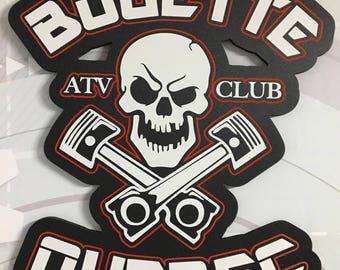 Mud Quebec PVC ATV 4 Wheeler ATV garage logo off road
