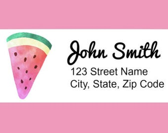 Personalized Return Address Labels, Watercolor Watermelon, Custom Return Labels, Mailing Stickers, Personal, Wedding