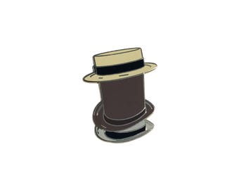 "Team Fortress 2 inspired 'Towering Pillar of Hats"" hard enamel lapel pin badge"