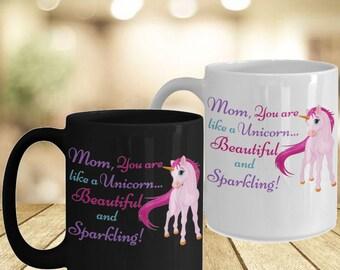 Special Mug For Mom- Good Vibes Only Unicorn Mom Gift Personal Mugs- Momlife Statement Mug- Mom From Son Mama Bear Mugs- Unicorn Mug Gift