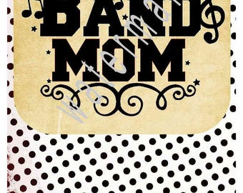 Band Mom SVG - Marching band iron on transfer - Band SVG -silhouette cameo cricut DXF - Marching band with music notes svg T-shirt transfer