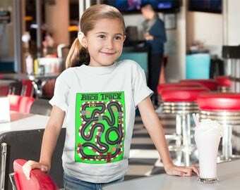 New!!! Race Track Kids T shirt 3 RACE CARS INCLUDED!!!