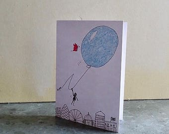 Hope Flying Balloon Greeting Card