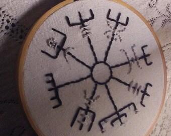 Vegvisir Rune Embroidery