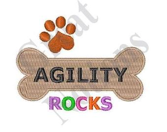 Dog Agility Rocks - Machine Embroidery Design