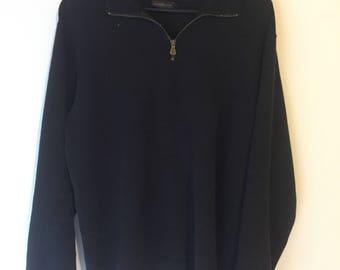 Men's RODD & GUNN 1/2 zip Sweater Charcoal Size M
