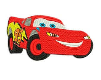 Based on Cars story Lightning Mcqueen Embroidery design - Machine embroidery design